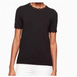 kate spade black Ric Rac Sweater size M nwot